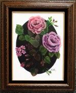 Framed-roses-on-black-oval