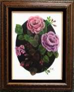 Framed-roses-on-black-oval
