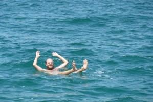 floating in Dead Sea -Jordan Tours
