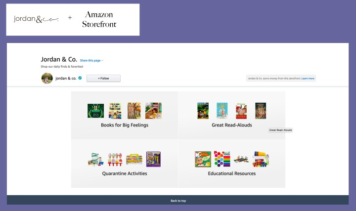 Amazon for blog
