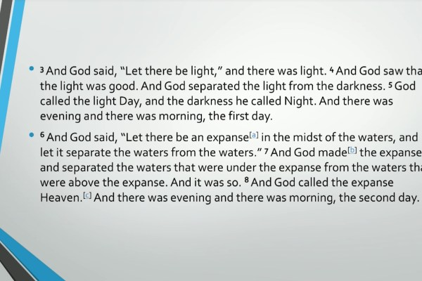 Biblical Series I: Introduction to the Idea of God Transcript