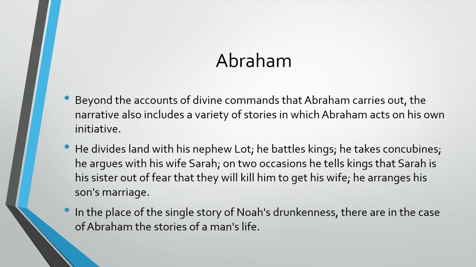 Biblical Series IX The Call to Abraham Transcript