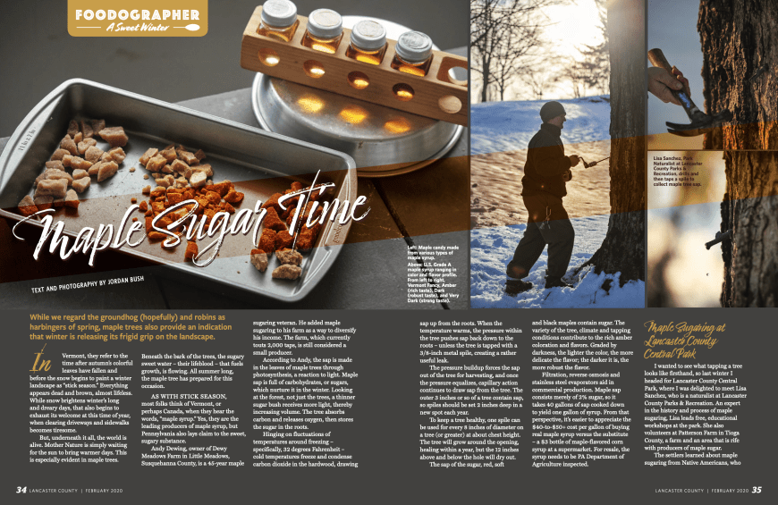 Lancaster_County_Magazine_Column_Food_Foodographer_Maple_Syrup_Sugar_Jordan_Bush_Photography Foodographer Column