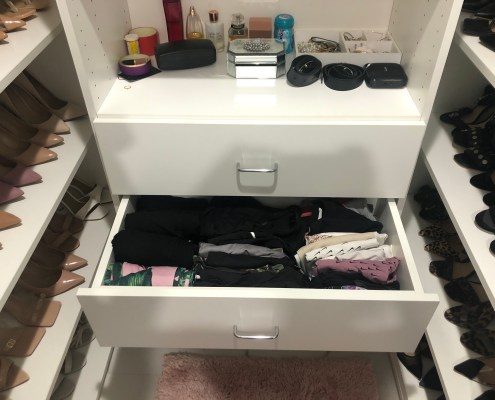 Dresser after I organized