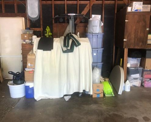 Messy Garage before I organized