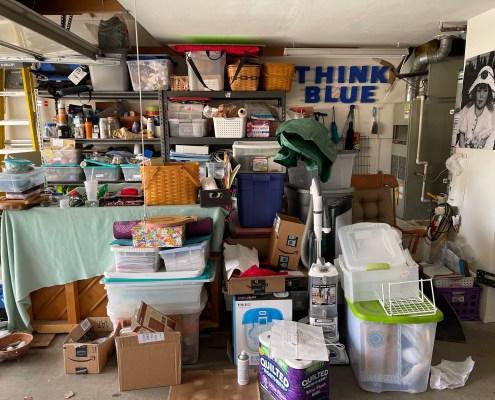 Unorganized Garage, Shelving Unit