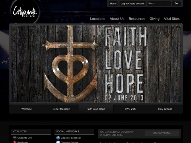 CitiPointe Church website