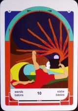 Tarot in the Land of Mystereum 10 of Wands (c) 2011 Jordan Hoggard