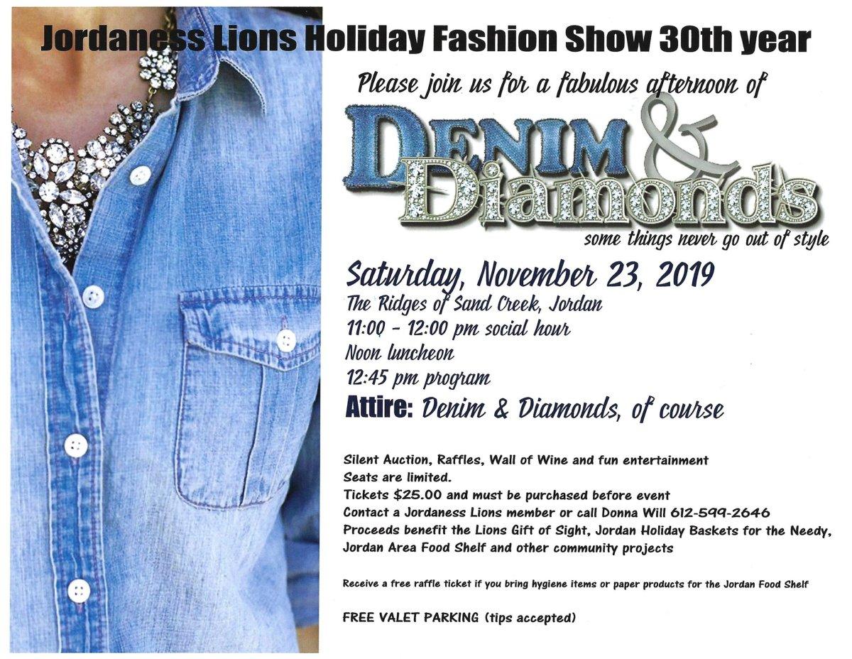 Event Of The Week Denim Diamonds Jordaness Lions City Of Jordan Minnesota