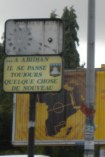"""2.- """"In Abidjan there is always something new happening."""" This sign, with the broken clock above, says a lot about Abidjanais self-perception as the city that runs – despite the crisis that has left lives on hold."""