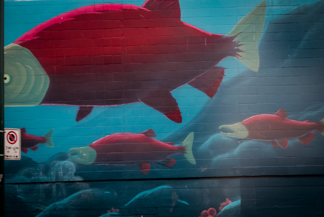A spawning mural