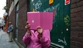 pink ipad lady / Dublin