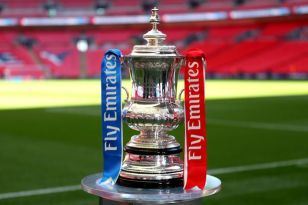 The English FA Cup trophy