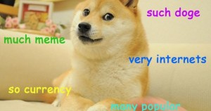 "It's a stupid meme, does it really matter what it looks like? Doge saying ""much meme"" etc."