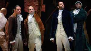 A screenshot from the original New York production of Hamilton
