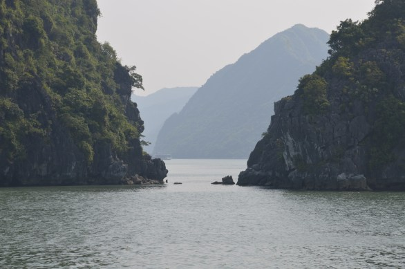 Gap in Limestone in Ha Long Bay