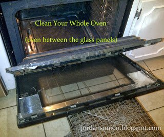how to clean the drips between your oven glass