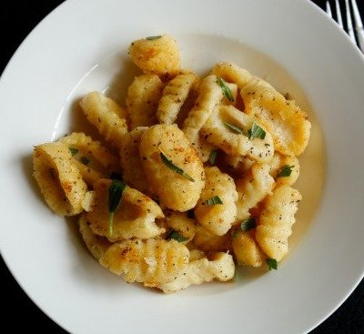 Homemade Gnocchi with Brown Butter Lemon Sage Sauce