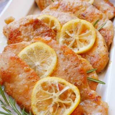 Lemon Rosemary Pork Scaloppini