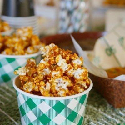 Buffalo Caramel Popcorn and a Football Party