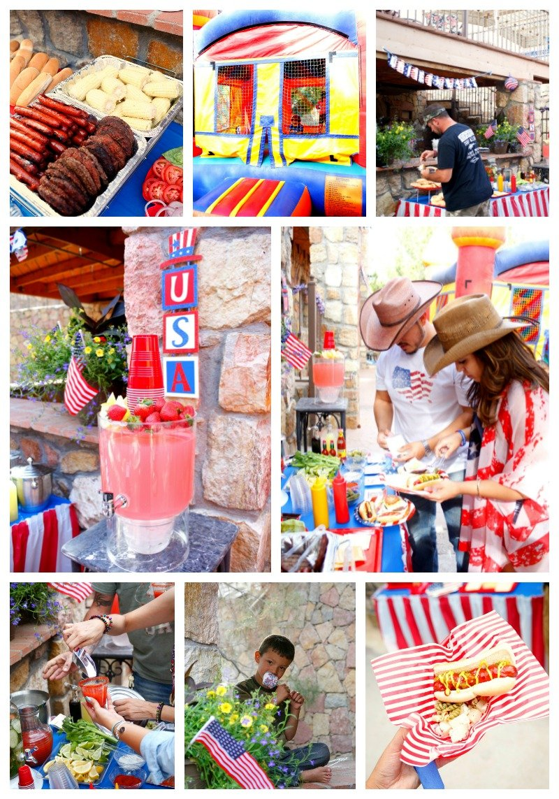 Get inspiration for your patriotic party with these fun red white and blue ideas