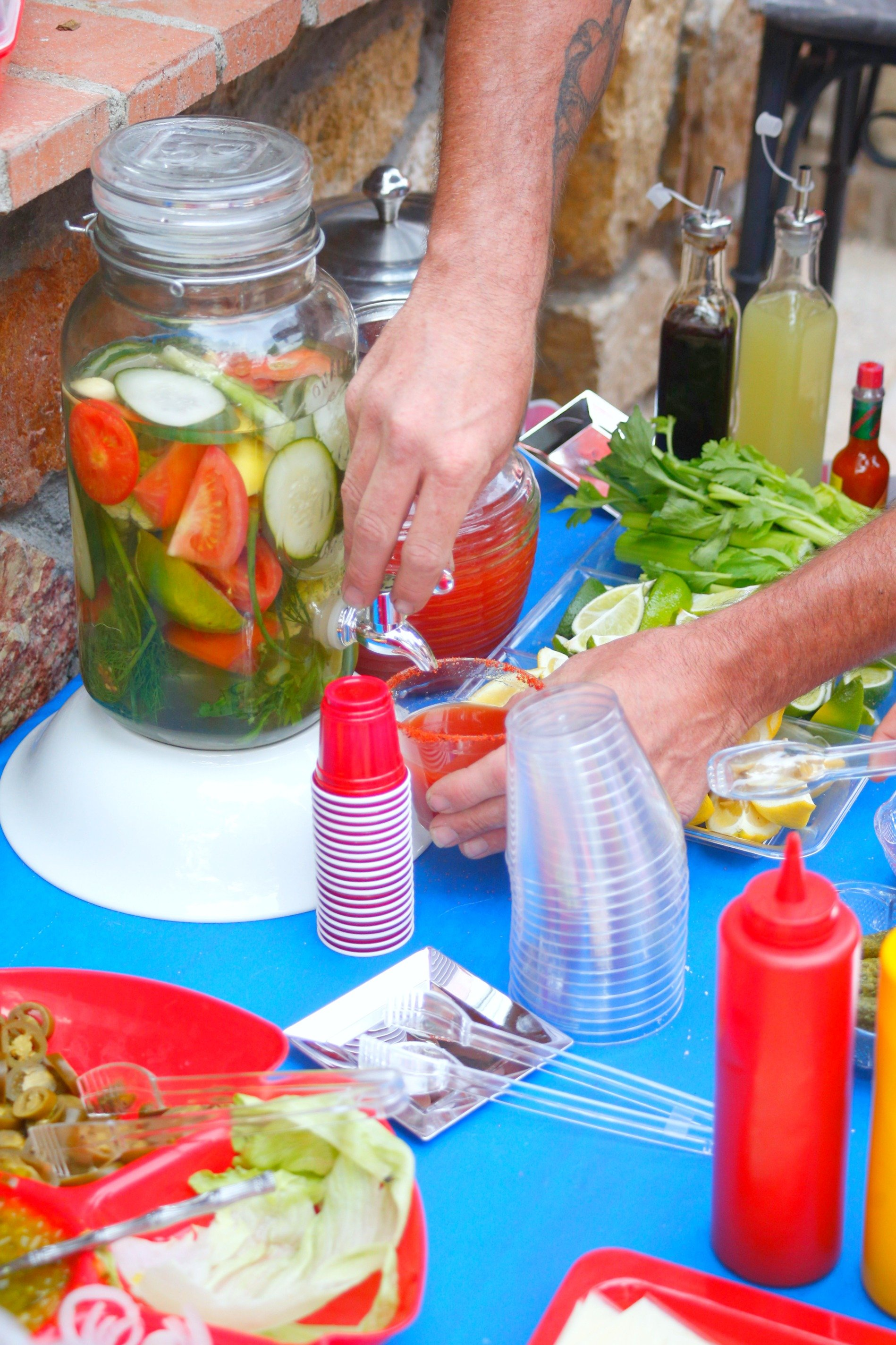 Make this Bloody Mary infused vodka to go with your epic Bloody Mary Bar