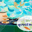 DIY Mermaid Backdrop Tutorial