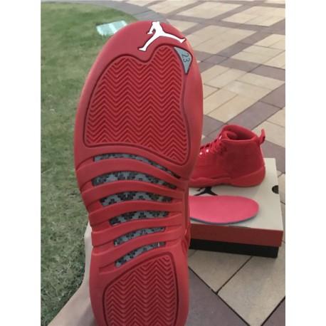 air jordan 12 red suede air jordan red suede 12 aj12 christmas red super original carbon hot sales