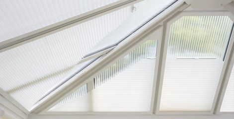 Pleated blinds 6 (Conservatory Roof)