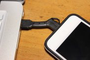 ChargeKey connected to an iPod Touch