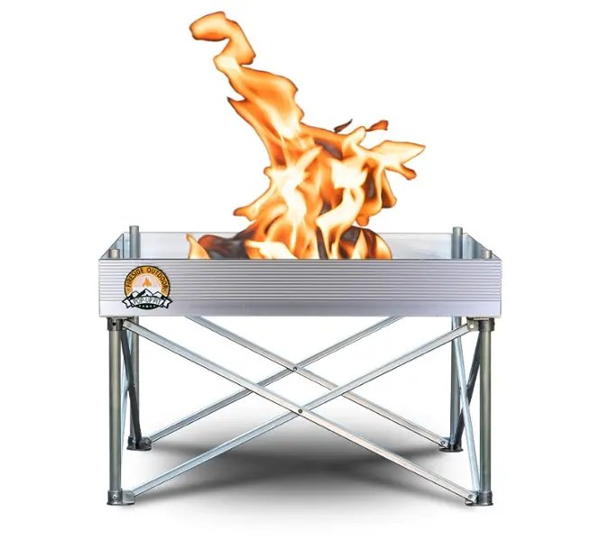 fireside outside pop-up portable fire pit