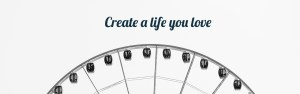 Logo for Jordan Therapy Services with ferris wheel and quote saying ' create a life you love'. If you're going through some life transitions then maybe you could benefit from young adult therapy in texas or young adult therapy in indiana. Contact Laura Jordan today to work together with online therapy.