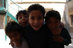 A few of the boys we met yesterday in Talbieh refugee camp