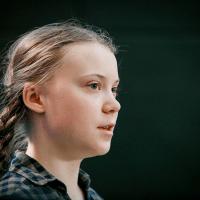 Greta Thunberg taler ved klimamarchen i København