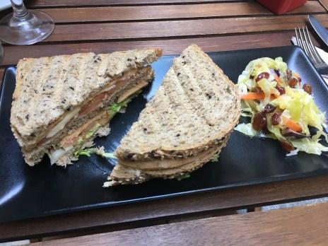 Vegan Cheese and Sausage Sandwich