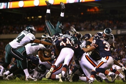 Bears/Eagles Man Pile