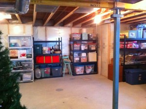 organized basement after