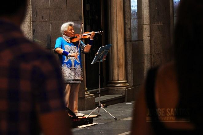 Violin en Gran Vía Madrid