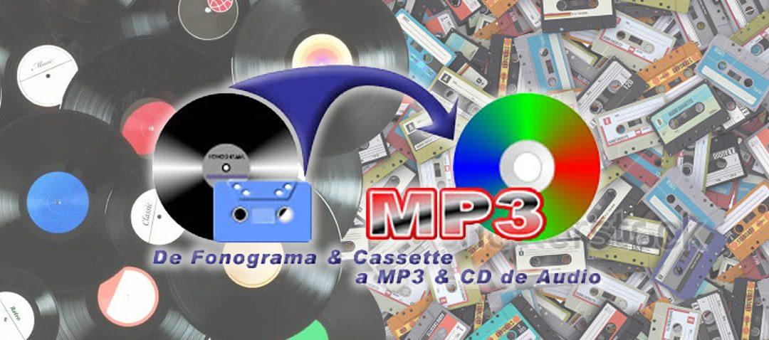 Cómo convertir tus discos de vinilo y cassettes a MP3 y CD de Audio, a la antigüita