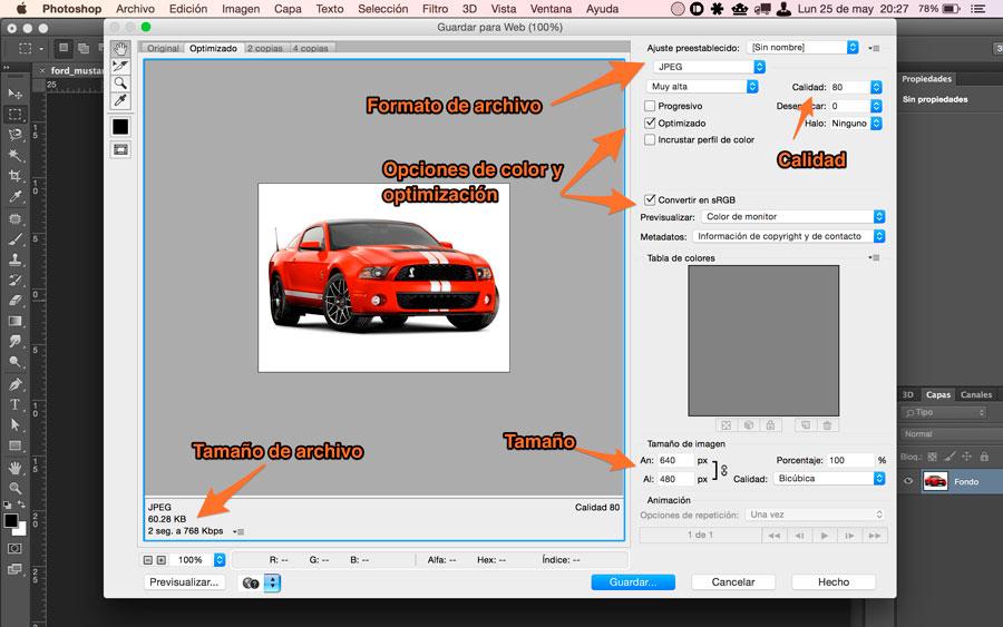 optimizacion de imagenes para pagina web