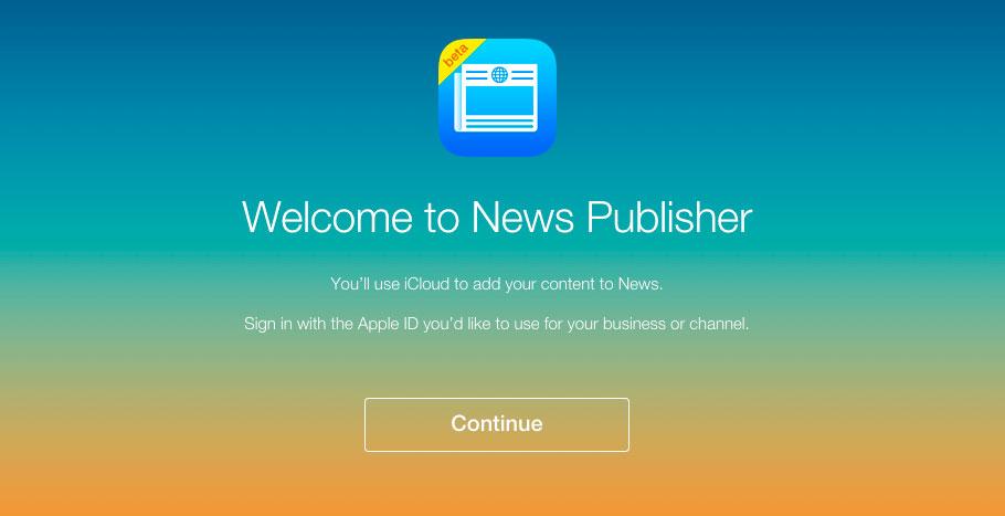 news publisher apple enviar contenido