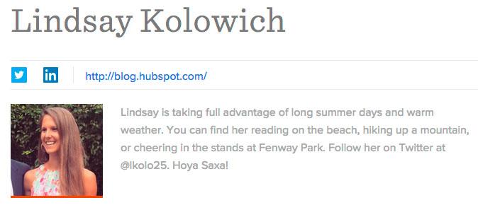 personaliza tu biografía de autor
