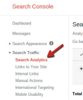 search analytics webmaster tools optimizar pagina web