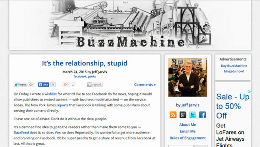 sitios web con wordpress buzzmachine