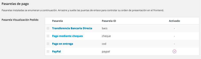 seleccionar pasarelas de pago wocommerce mexico