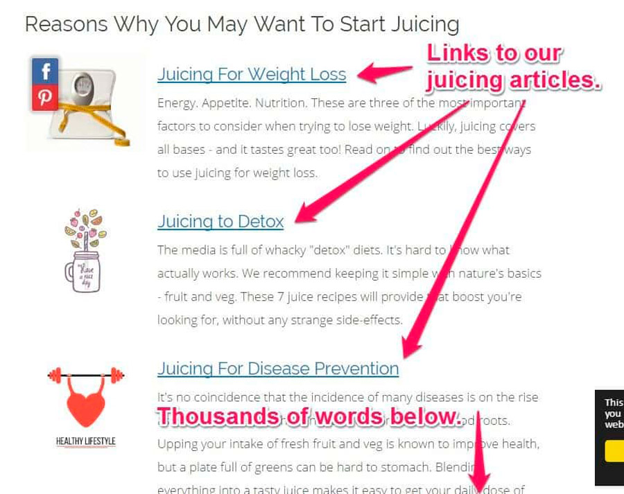 links a articulos de calidad seo