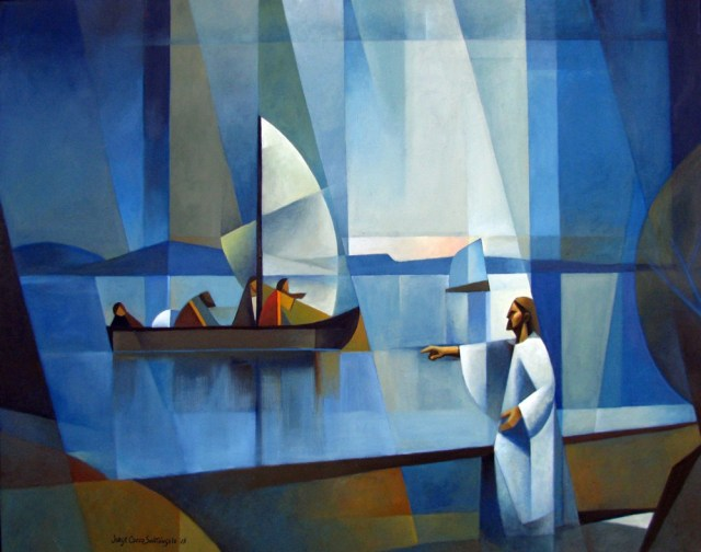 The call / El llamado. 2015. Oil on canvas 100x80 cms.
