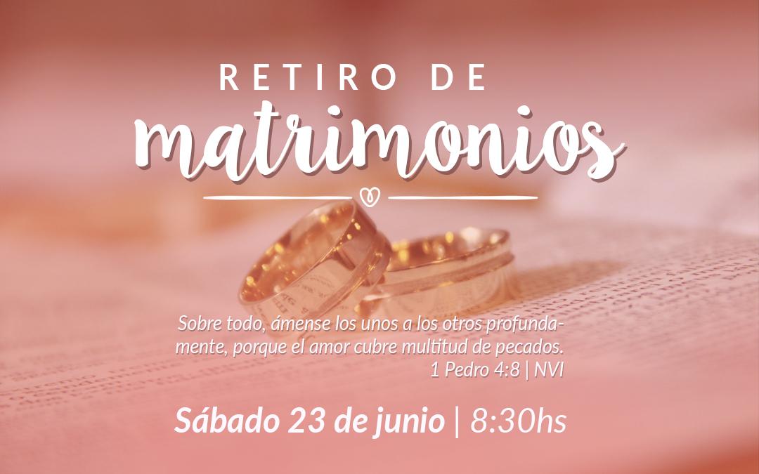PLACA RETIRO DE MATRIMONIO