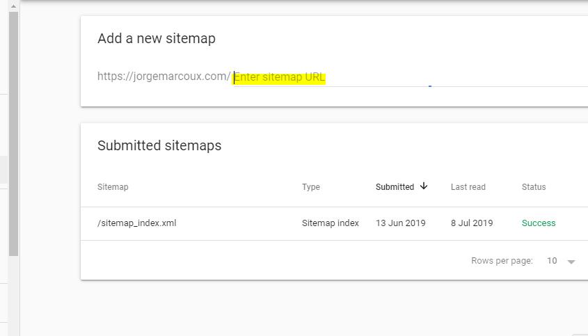 Soumettre sitemap Google Search Console