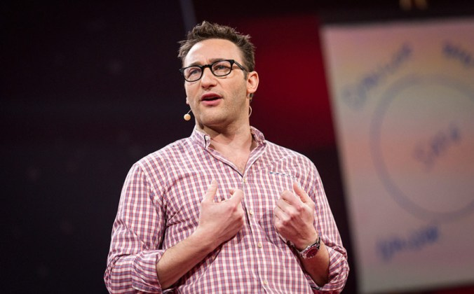 Simon Sinek on stage at TED2014, The Next Chapter, Session 11 - Unstressed, March 17-21, 2014, Vancouver Convention Center, Vancouver, Canada. Photo: James Duncan Davidson